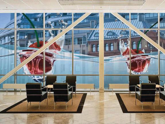 custom decorative window film denver retail store