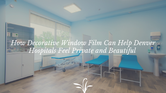 decorative window film denver hospitals